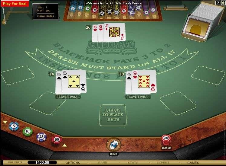 Microgaming European Blackjack deep