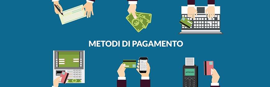 Metodi di pagamento incassi