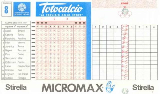 La vecchia lotteria scelte