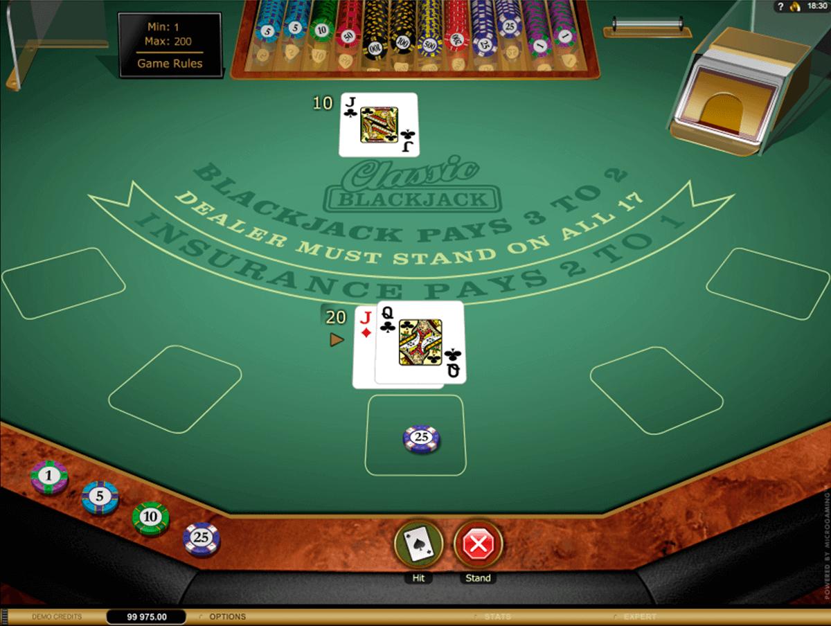 Blackjack online classico percentuale